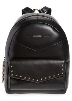 Jimmy Choo Cassie Star Studded Lambskin Leather Backpack
