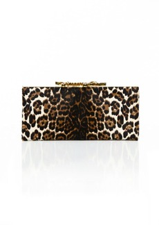 Jimmy Choo Celeste Leopard Print Pony Hair Clutch