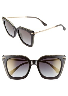 Jimmy Choo Ciara 52mm Cat Eye Sunglasses