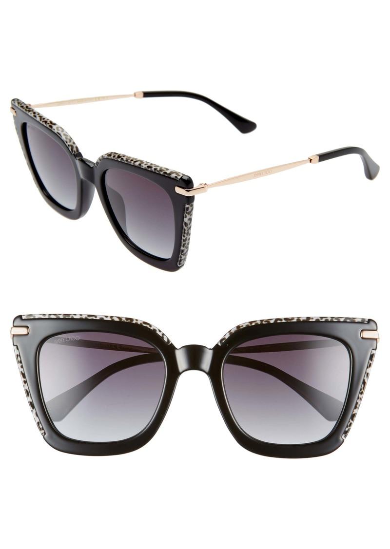 Jimmy Choo Ciara 52mm Cat Eye Sunglasses