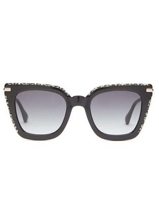 Jimmy Choo Ciara square acetate and metal sunglasses