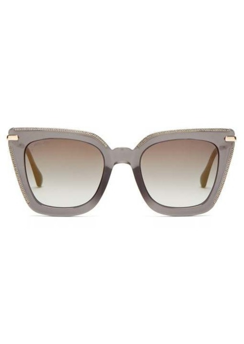 Jimmy Choo Ciara square glittered-acetate sunglasses
