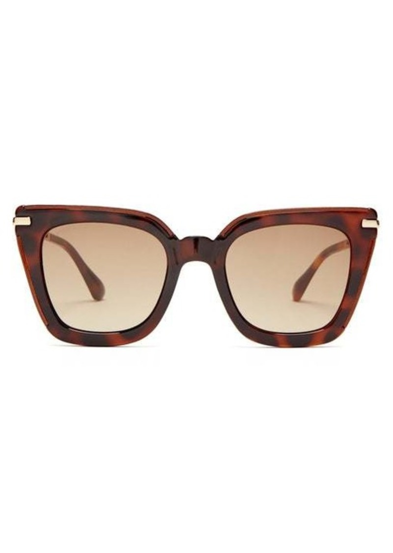Jimmy Choo Ciara square tortoiseshell-acetate sunglasses
