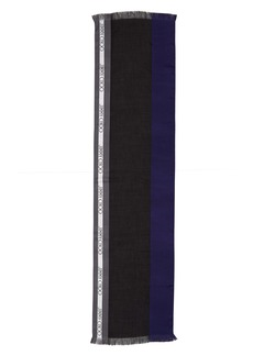 Jimmy Choo Colorblock Logo Silk Blend Scarf