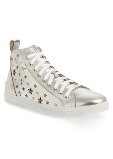 Jimmy Choo Colta Star Embossed High Top Sneaker (Men)