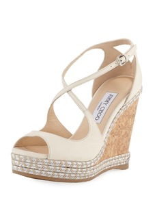 Jimmy Choo Dakota Wedge Espadrille Sandal