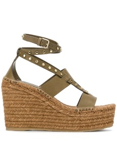 Jimmy Choo Danica 110 wedges - Green