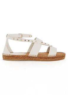 Jimmy Choo Denise stud-embellished leather espadrilles
