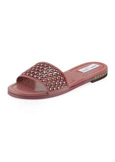 Jimmy Choo Dree Laser-Cut Flat Mule Sandal