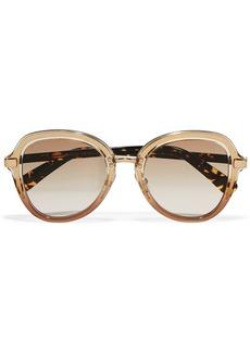 Dree round-frame acetate and gold-tone sunglasses