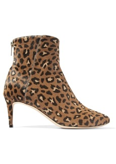 Jimmy Choo Duke 65 leopard-print calf hair ankle boots