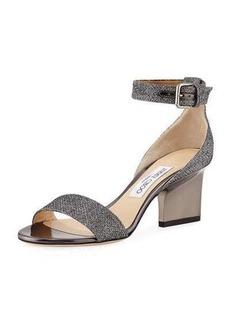 Jimmy Choo Edina Metallic Fabric Sandal
