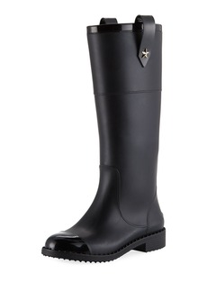 Jimmy Choo Edith Rubber Knee-High Rain Boot