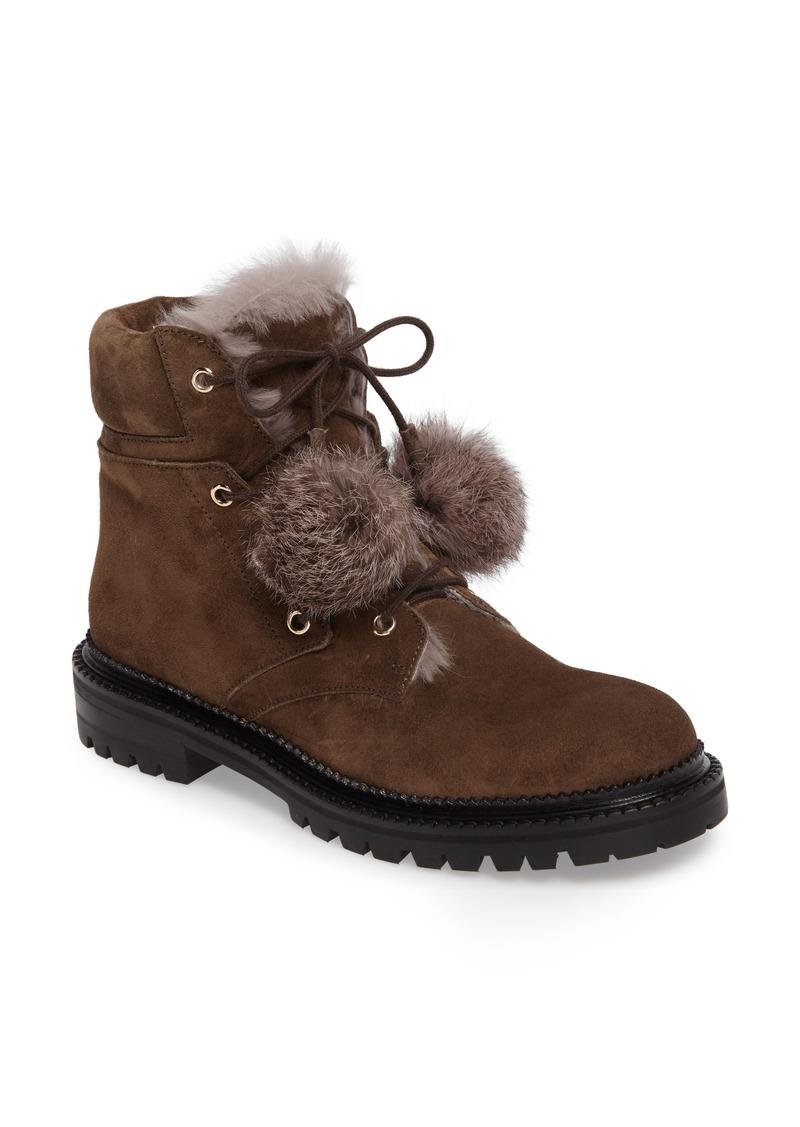 Jimmy Choo Elba Genuine Rabbit Fur Boot (Women)
