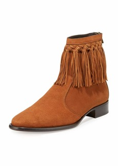 Jimmy Choo Eric Men's Dry Suede Fringe-Trim Ankle Boot