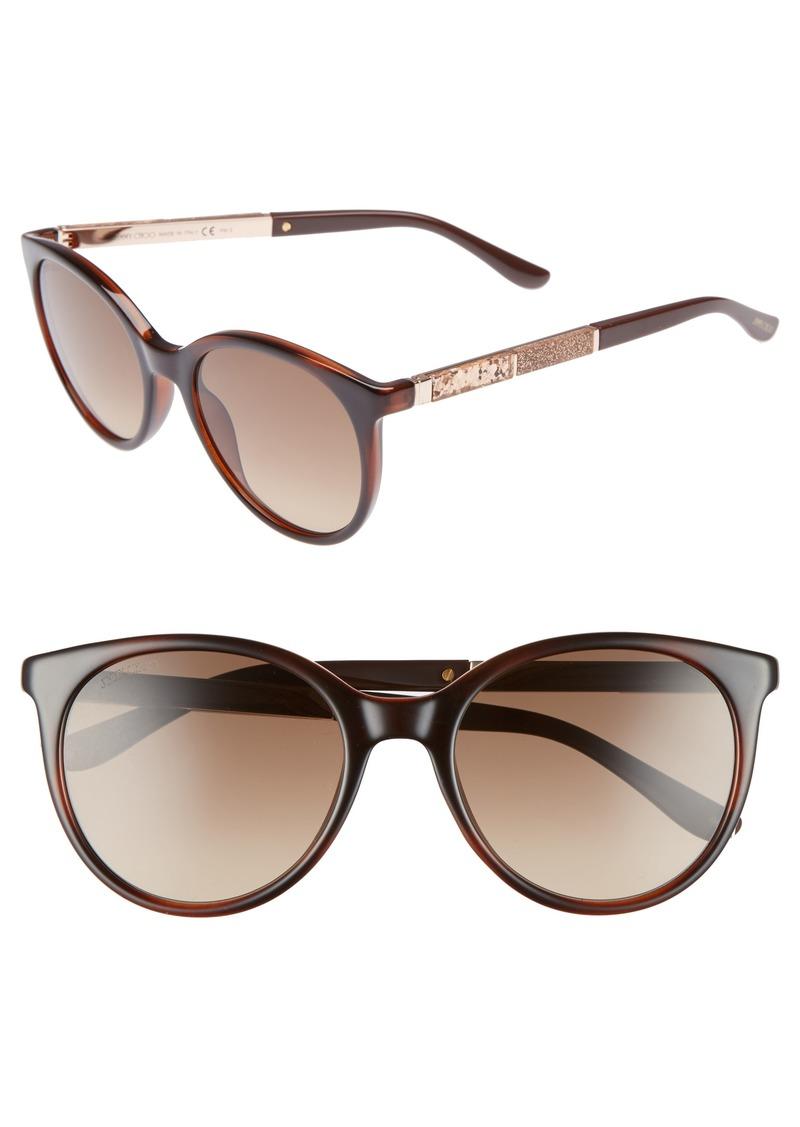 Jimmy Choo Erie 54mm Gradient Round Sunglasses