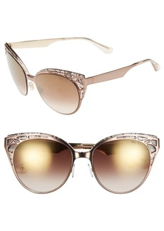 Jimmy Choo 'Estelle' Metal Cat Eye Crystal Lace 55mm Sunglasses