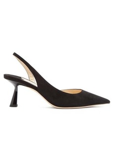 Jimmy Choo Fetto 65 suede slingback pumps