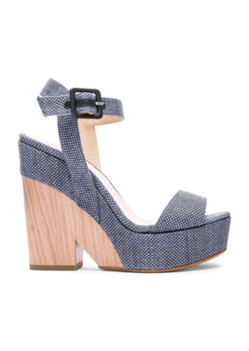 Jimmy Choo Fine Raffia Nico Wedges