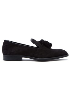 Jimmy Choo Foxley perforated suede loafers