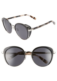 Jimmy Choo Gabby 56mm Special Fit Round Sunglasses