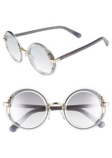 Jimmy Choo Gems 48mm Round Sunglasses