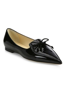 Genna Patent Leather Point Toe Flats