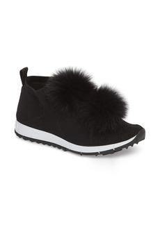 Jimmy Choo Genuine Fox Fur Sock Sneaker (Women)