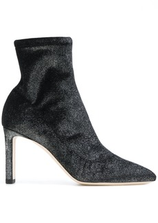 Jimmy Choo glitter heeled boots - Black