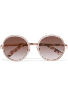 Jimmy Choo Glittered round-frame acetate sunglasses