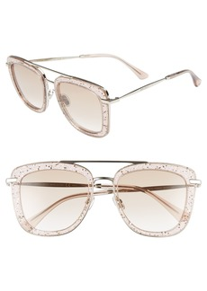 Jimmy Choo Glossy 53mm Square Sunglasses
