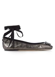 Jimmy Choo Grace embellished leather ballet flats