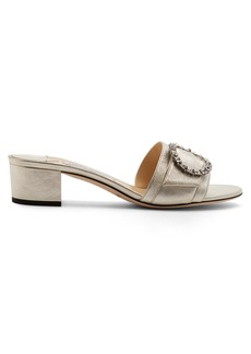 Jimmy Choo Granger 35 crystal-embellished leather mules