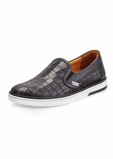 Jimmy Choo Grove Crocodile-Emobssed Skate Sneaker