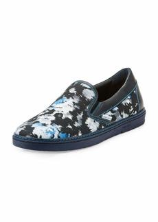 Jimmy Choo Grove Men's Floral Shantung Slip-On Sneakers