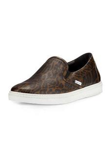 Jimmy Choo Grove Men's Leopard-Print Slip-On Sneaker