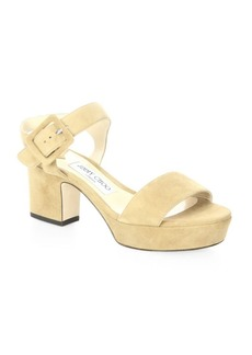 Jimmy Choo Harriet 65 Suede Ankle-Strap Sandals