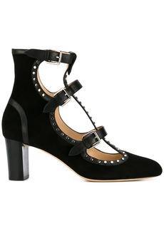 Jimmy Choo Hartley leather trim pumps - Black