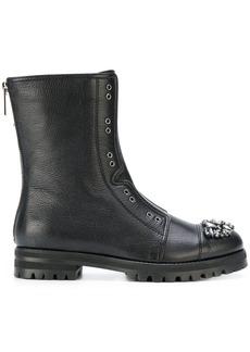 Jimmy Choo Hatcher combat boots - Black
