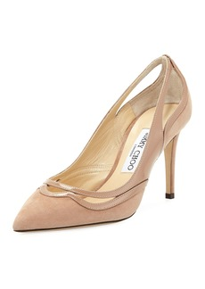 Jimmy Choo Hickory Cutout Mixed Pumps