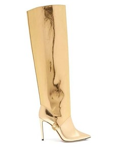 Jimmy Choo Hurley 100 two-piece knee-high leather boots