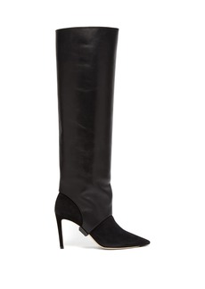 Jimmy Choo Hurley 85 two-piece knee-high boots