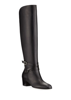 Jimmy Choo Huxlie Smooth Leather Knee Boots