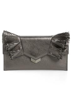 Jimmy Choo Isabella Metallic Leather Clutch