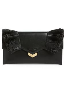 Jimmy Choo Isabella Ruffle Leather Clutch