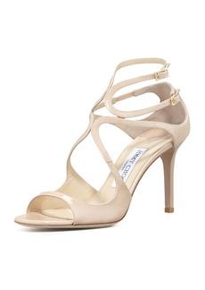 Jimmy Choo Ivette Strappy Patent Sandal
