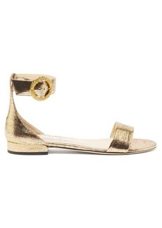 Jimmy Choo Jaimie metallic-leather sandals