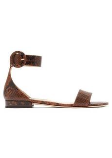 Jimmy Choo Jaimie python-effect leather sandals
