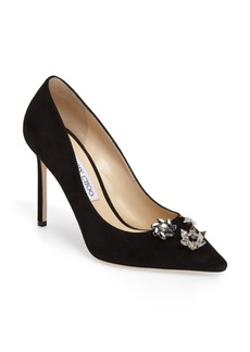 Jimmy Choo Jasmine Crystal Brooch Embellished Pump (Women)