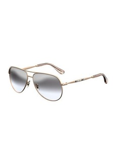 Jimmy Choo Jewly Rhinestone Aviator Sunglasses